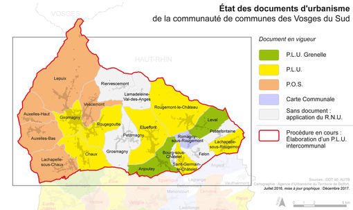 Document d'urbanisme des 22 communes de la CCVS